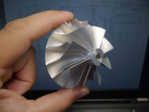 New milled impeller with improved aerodynamics